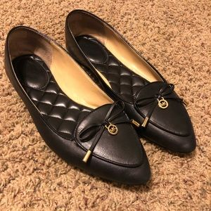 Michael Kors black leather flats size 9.5M